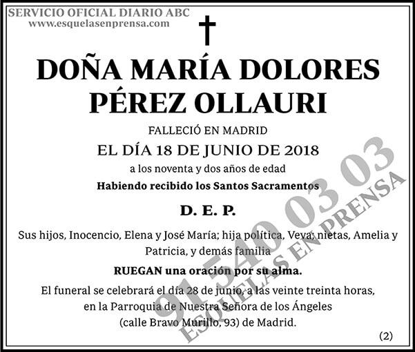 María Dolores Pérez Ollauri